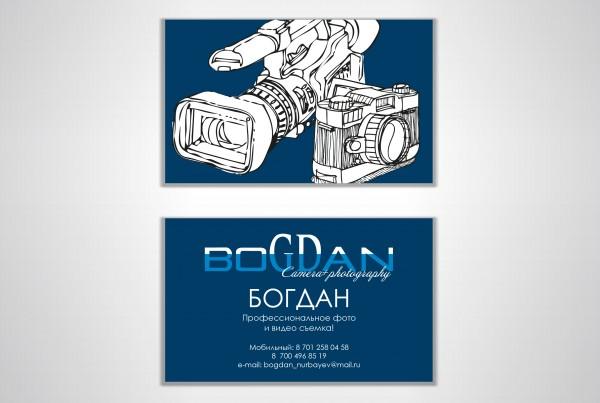 """Визитка фотографа """"Богдан"""""""