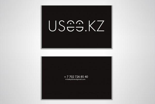 Визитка и логотипа для проекта USEE.KZ