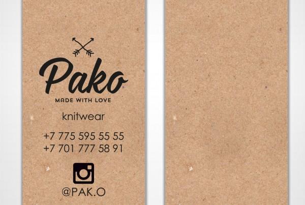 Визитка Pako