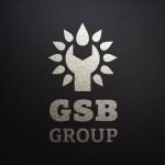 Логотип GSB Group монохром горизонтальный