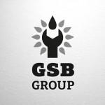 Логотип GSB Group серый горизонтальный