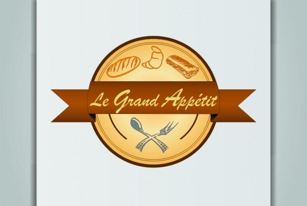 логотип le grand appetit бежевый коричневый пекарня выпечка французский