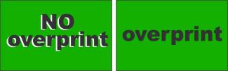 NO Overprint