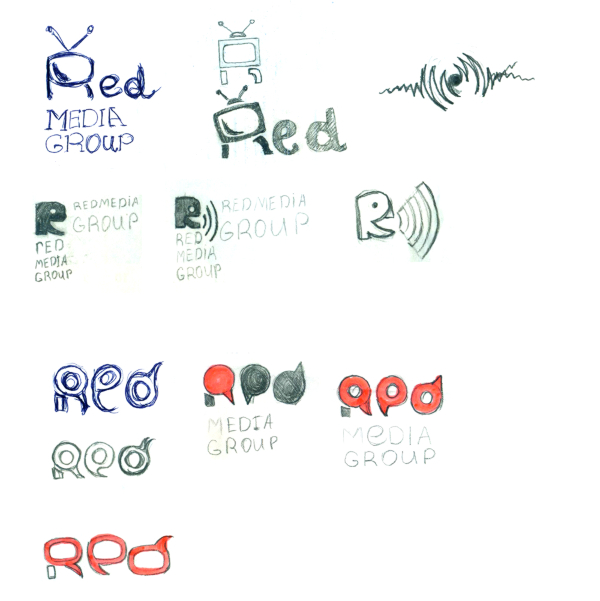 Создание логотипа. Red media group