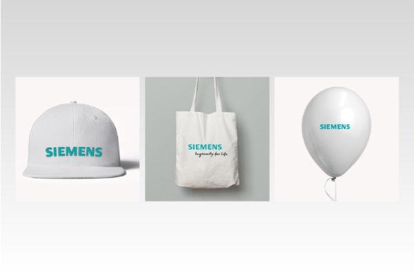 Siemens, сувенирная продукция, нанесение, шелкография