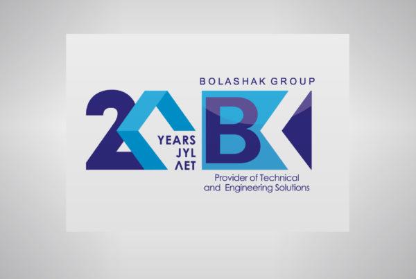Bolashak Group, разработка логотипа, адаптация, дизайн