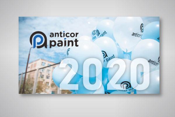 Anticor paint, брендирование, адаптация, календарь, полиграфия
