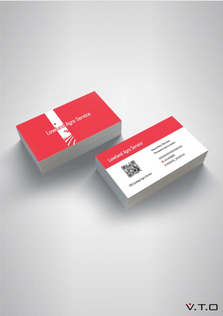 Love Land Agro Service, дизайн, визитки, алматы, дизайн визитки