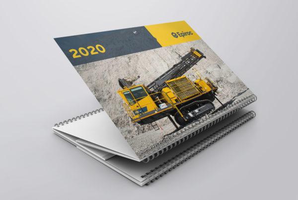 Epiroc, календарь, квартальный календарь, дизайн, бренд